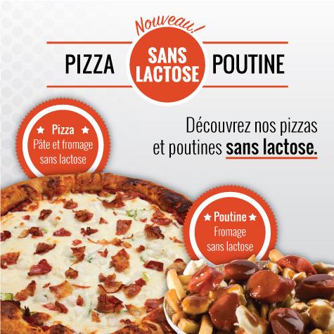Pizza et poutine sans lactose!